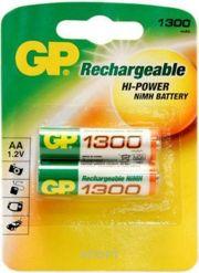Фото GP Batteries AA 1300mAh NiMh 2шт (130AAHC)