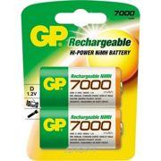 Фото GP Batteries D 7000mAh NiMh 2шт (700DHC)