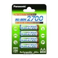 Фото Panasonic AA 2700mAh NiMh 4шт High Capacity (BK-3HGAE/4BE)
