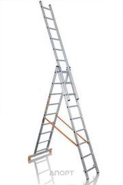 Фото Эйфель Трехсекционная лестница алюминиевая бытовая 3х9 Премьер