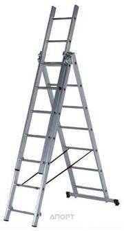 Фото SevenBerg Алюминиевая трехсекционная лестница-стремянка 3x12 920312