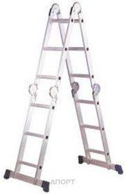 Фото SevenBerg Шарнирная четырехсекционная лестница-трансформер QH-4х3 940443