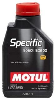 Фото Motul SPECIFIC VW 505.01 5W-40 1л
