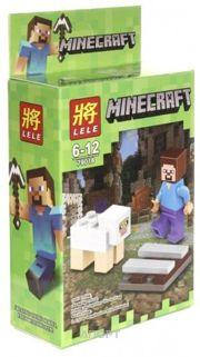 Фото Lele Minecraft Стив и овечка 79018 23 детали