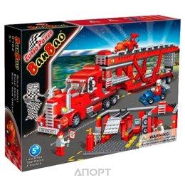 BanBao Турбо сила 8762 Машина с прицепом для перевозки автомобилей
