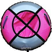 Фото Тюбинг Практик 90 см розовый/серебро П1-Р/С