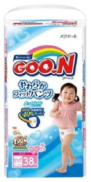 Фото Goo.N Подгузники-трусики для девочек XL 12-20 кг (38 шт.)