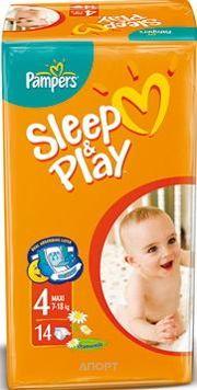 Фото Pampers Sleep&Play Maxi 4 (14 шт.)