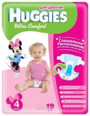 Фото Huggies Ultra Comfort для девочек 4 (19 шт.)