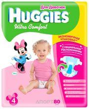 Фото Huggies Ultra Comfort для девочек 4 (80 шт.)