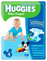 Фото Huggies Ultra Comfort для мальчиков 4 (19 шт.)