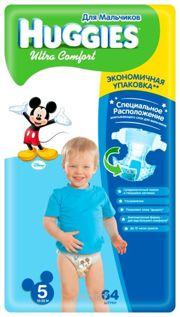 Фото Huggies Ultra Comfort для мальчиков 5 (64 шт.)