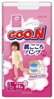 Фото Goo.N Подгузники-трусики для девочек L 9-14 кг (44 шт.)