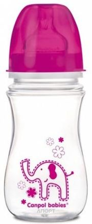 Фото Canpol Babies Антиколиковая бутылочка Easystart Цветные зверята 240 мл (35/206)