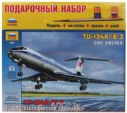 Фото ZVEZDA Пассажирский авиалайнер Ту-134 А/Б-3 1:144 (подарочный набор) (ZVE7007PN)