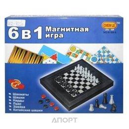 Junfa Toys Игра настольная магнитная 6 в 1 (8188-5)