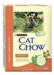 Фото Cat Chow Adult с курицей и индейкой 15 кг