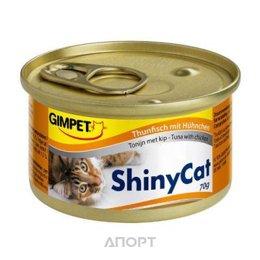 Gimpet ShinyCat тунец с курицей 70 г