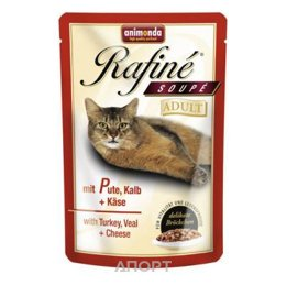 Animonda Rafine Soupe Adult (телятина, индейка и сыр) 100 г