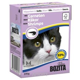 Bozita Feline кусочки в соусе с креветками 370 г