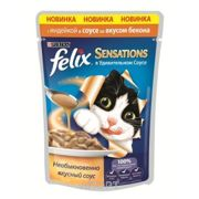 Фото Felix Sensations с индейкой в соусе со вкусом бекона 85 г