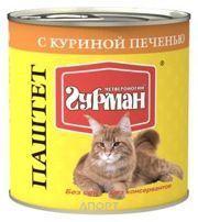 Фото Четвероногий Гурман Паштет с куриной печенью для кошек 0,24 кг