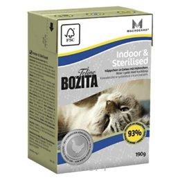 Bozita Feline Indoor & Sterilised кусочки в желе с курицей 190 г