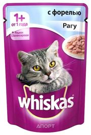 Фото Whiskas Рагу с форелью (для взрослых кошек 1+) 85 г