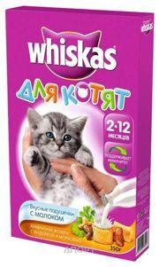 Фото Whiskas Подушечки для котят с молоком Индейка, морковь 0,35 кг