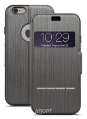 Фото Moshi Sensecover Touch Sensitive Flip Case, Steel Black for iPhone 6 Plus (99MO072304)