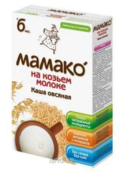 Фото МАМАКО Каша Овсяная на козьем молоке с 6 мес 200 г
