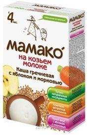 Фото МАМАКО Каша Гречневая с яблоком и морковью на козьем молоке с 4 мес. 200 г
