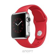 Фото Apple Watch Sport 38mm Silver Aluminum Case with Red Sport Band (MME92)