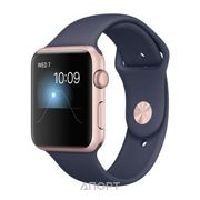 Фото Apple Watch Series 2 42mm Rose Gold Aluminum Case with Midnight Blue Sport Band (MNPL2)