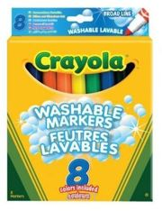 Фото Crayola 8 смываемых широких фломастеров (8328)