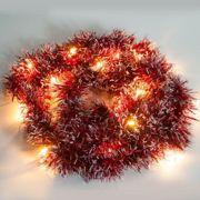 Фото Feron CL800 2700K красная мишура (26882)